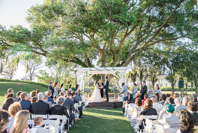 wedding ceremony at tuscawilla country club