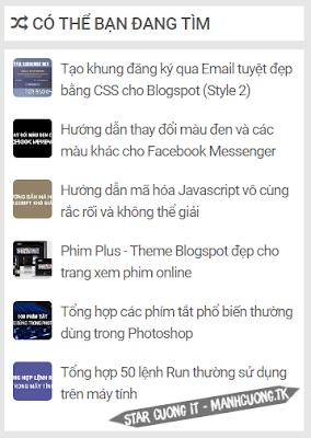 Tạo Widget ''Có Thể Bạn Đang Tìm'' Cho Blogspot - Random Post Đẹp