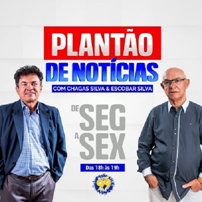 PLANTÃO DE NOTICIAS, DE SEGUNDA A SEXTA FEIRA DAS 18:00 AS 19:00 Hs