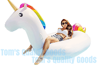 GIANT Unicorn Pool Float 8 FOOT Massive Floatie Raft Inflatable Pool Toy