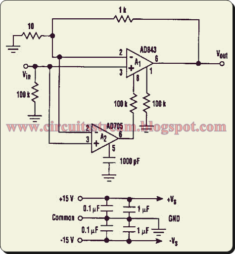 Low Noise And Drift Composite Amp Circuit Diagram
