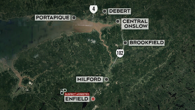 Map Attribute: Gunman's shooting trail / Source: Local TV news reporting