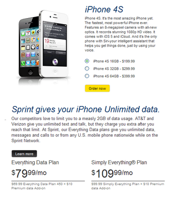 sprint plans for iphone sprint iphone unlimited data plans winning 16189