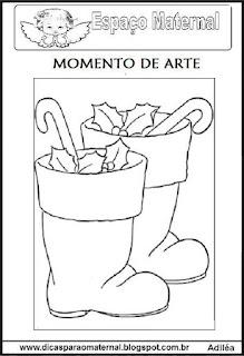 Desenho bota de natal