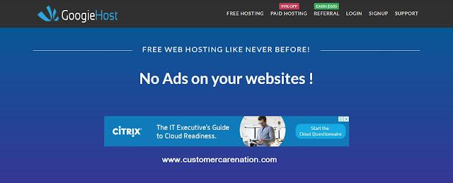 Googiehost - Free Web Hosting