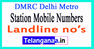 DMRC Delhi Metro Station Mobile Numbers Line 1