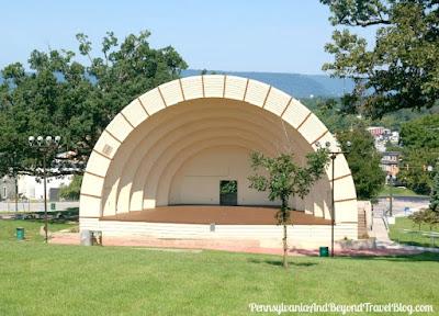 Levitt Performing Arts Pavilion at Reservoir Park in Harrisburg Pennsylvania