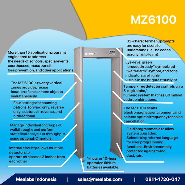 MZ6100 Walktrough Metal Detector