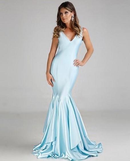 vestido de festa sereia madrinha