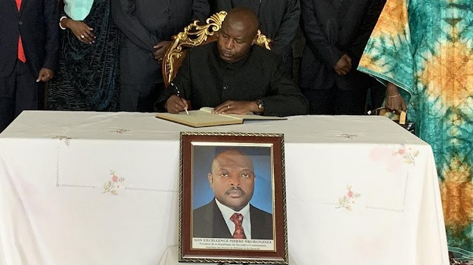 Burundi swears in Evariste Ndayishimiye as new president after Pierre Nkurunziza's death