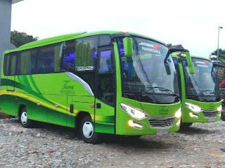 Rental Bus Medium Termurah, Rental Bus Medium