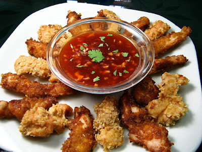 """Chicken Strips with """"Chinese"""" Sauce Recipe"""