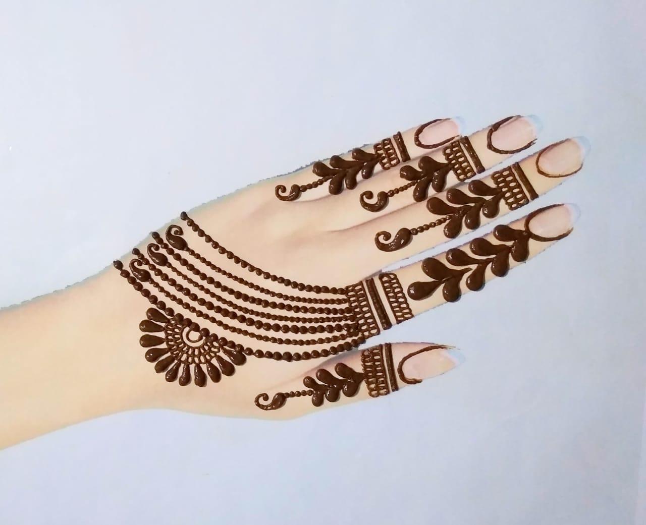 Ornament Style Simple Mehandi Designs