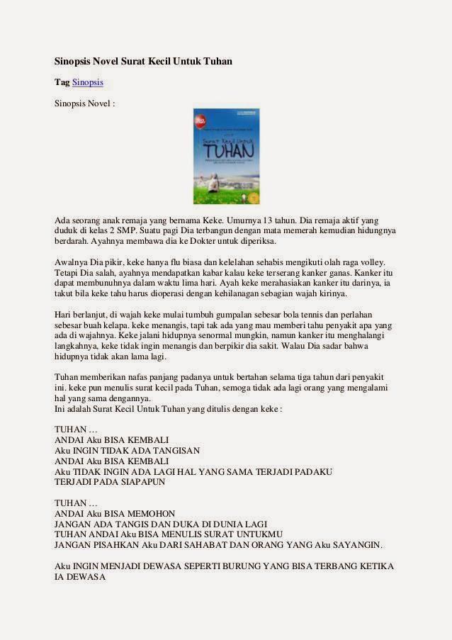Cara Membuat Sinopsis Novel : membuat, sinopsis, novel, Bahasa, Indonesia, Sinopsis, Novel