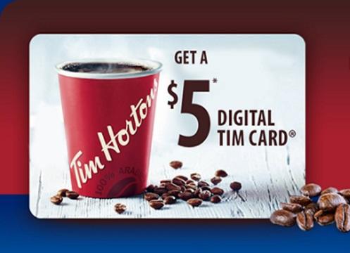 Tim Hortons Free $5 Gift Card Scotties Offer