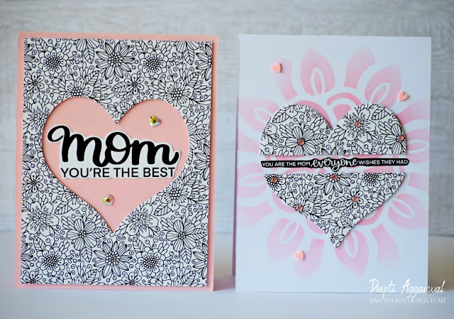Quick & Easy Mother's Day Cards using Pattern paper