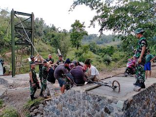 Dihari ketujuh kegiatan TMMD ke-108 Kodim 0622 Kabupaten Sukabumi