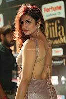 Telugu Actress Aarthi in Deep Neck Backless Golden Gown at IIFA Utsavam Awards 2017 Exclusive 17.JPG