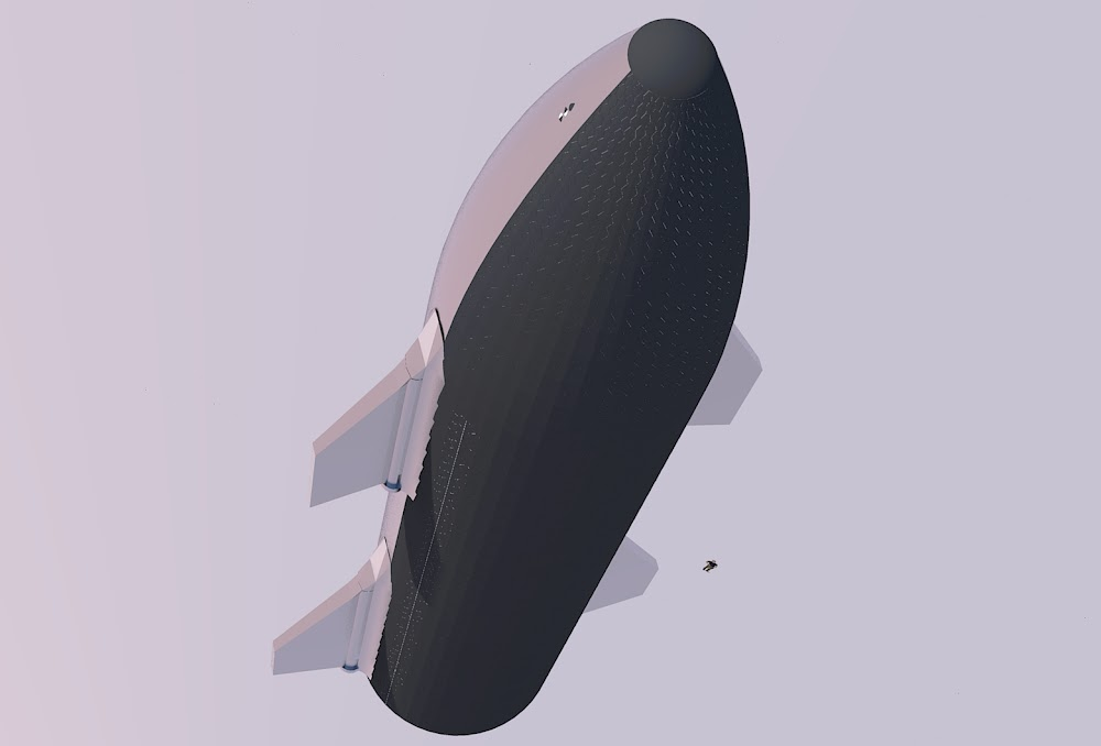 SpaceX Starship Mk 1 heat shield by Michel Lamontagne
