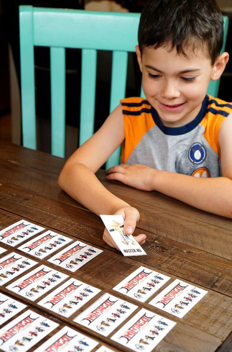 printable games for kids - lego ninjago matching game