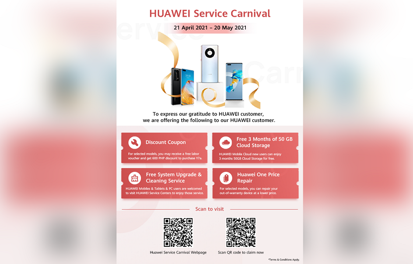 How to participate to Huawei Service Repair Carnival?