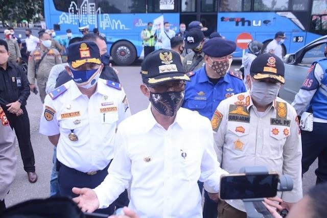 Harnojoyo Tinjau Langsung Penerapan PSBB di Kota Palembang