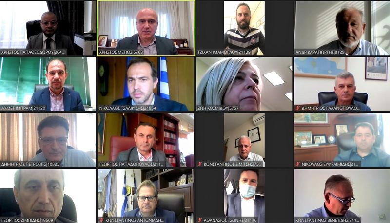 Κορωνοϊός, ενεργειακές αναβαθμίσεις κτιρίων και πρόγραμμα στήριξης των επιχειρήσεων στο επίκεντρο της συνεδρίασης της Ε.Ε. της Περιφέρειας ΑΜ-Θ
