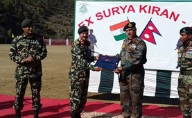Indo-Nepal joint military Exercise SURYA KIRAN - XIV held in Nepal from 03 to 16 December 2019