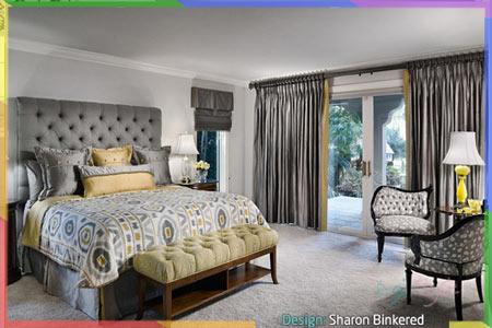 غرف نوم بالرمادي المحايد