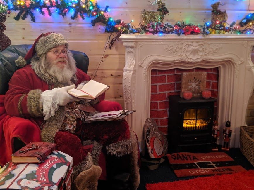 Christmas & Santa at Whitehouse Farm - A Review - Santa in his grotto
