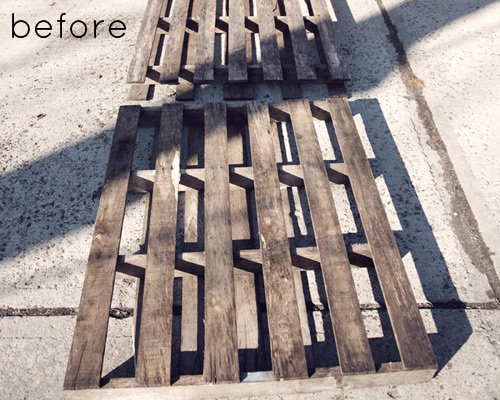 Before & After: Pallet Serving Tray