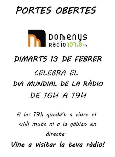 Esguard de Dona - Jornada de Portes Obertes a Domenys Ràdio - Dia Mundial de la Ràdio 2018