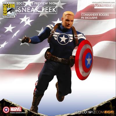 Mezco One:12 Collective Marvel Comics Commander Rogers Previews Exclusive Action Figure