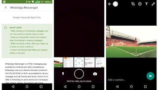 Whatsapp selfie flash in Android beta version