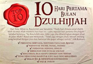 10 hari pertama di bulan Dzulhijjah