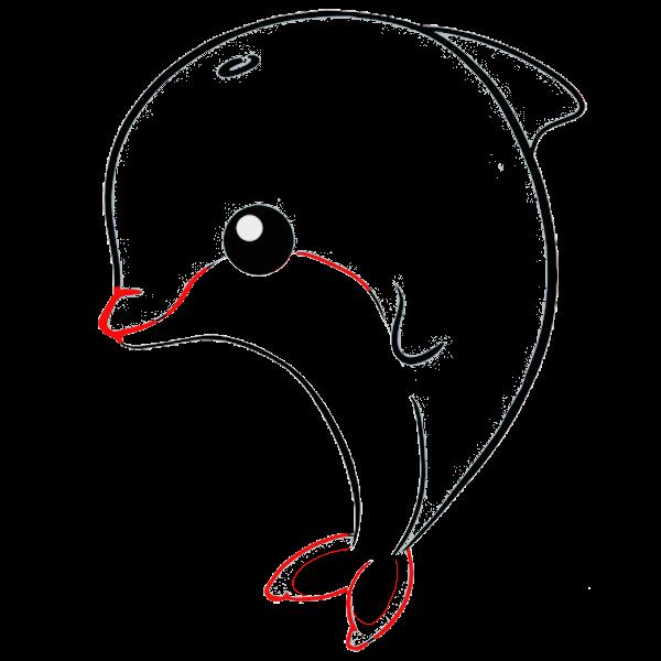 delfin kawaii imprimir dibujo