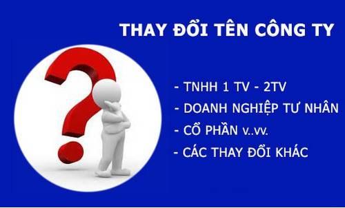 dịch vụ thay đổi tên công ty tại tphcm