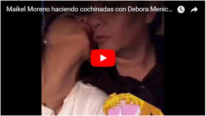 El delincuente del TSJ Maikel Moreno haciendo porquerías con Debora Menicucci en un carro