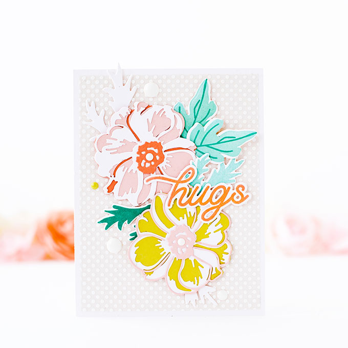 Hugs - Cardmaking with Layering Dies and Vellum Adhesive Tips   The Stamp Market