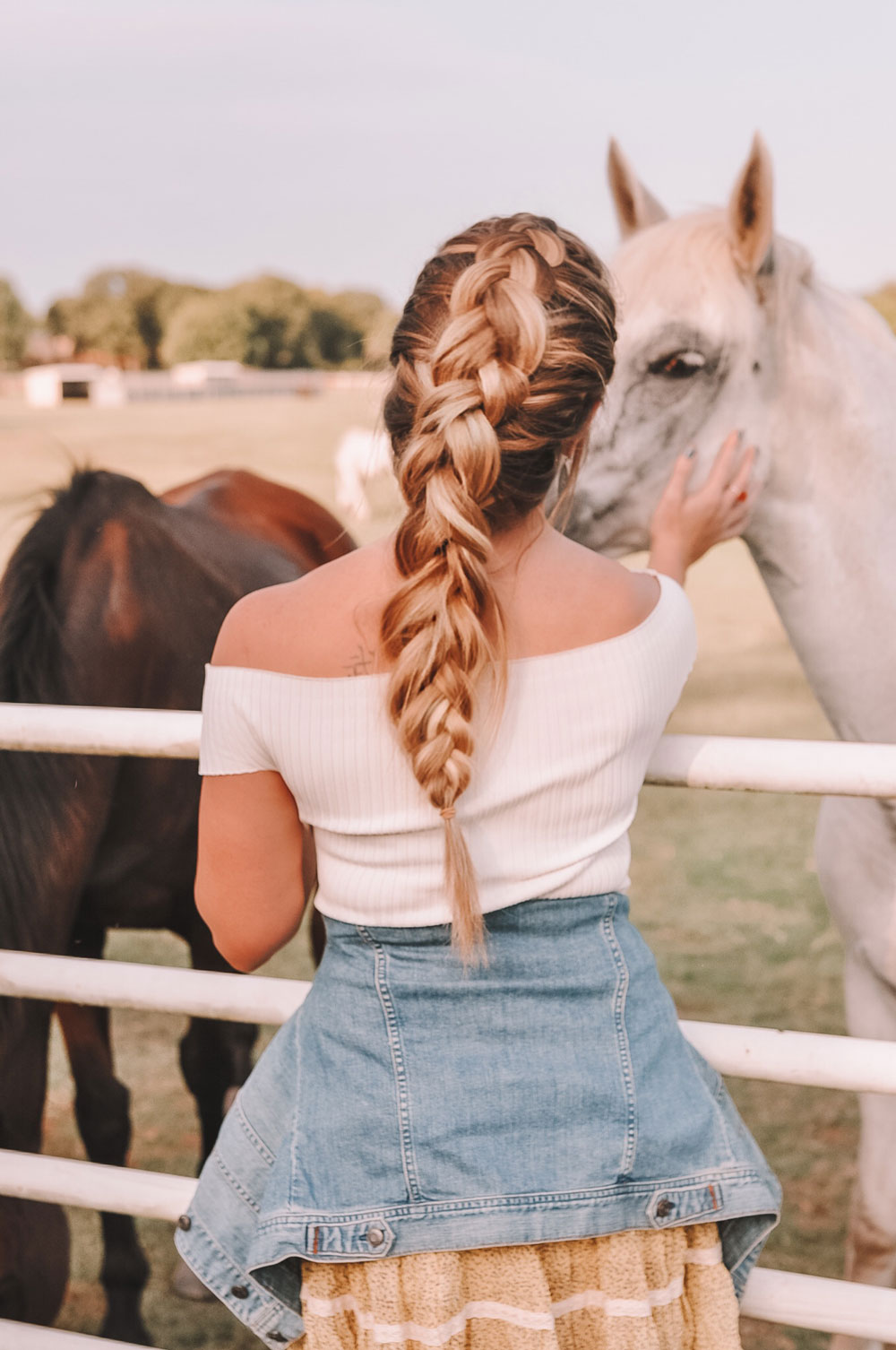 According to OKC blogger Amanda Martin, hand tied extensions make chunky braids much better!