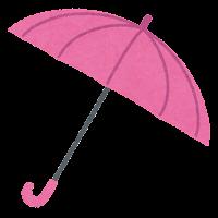 傘のイラスト(ピンク)