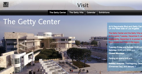 The Getty Museum under threat from Skirball Wild Fire
