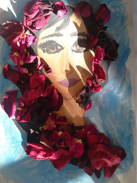 #bigeyes #art #floralart #rosepedals