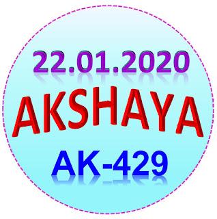 Kerala Lottery Guessing Akshaya AK-429 dated 22.01.2020