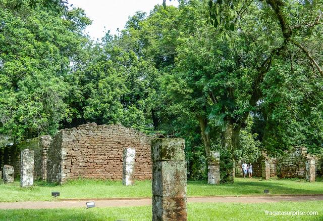 Setor de moradias da Missão Jesuítica de San Ignacio Miní