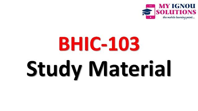 IGNOU BHIC-103 Study Material