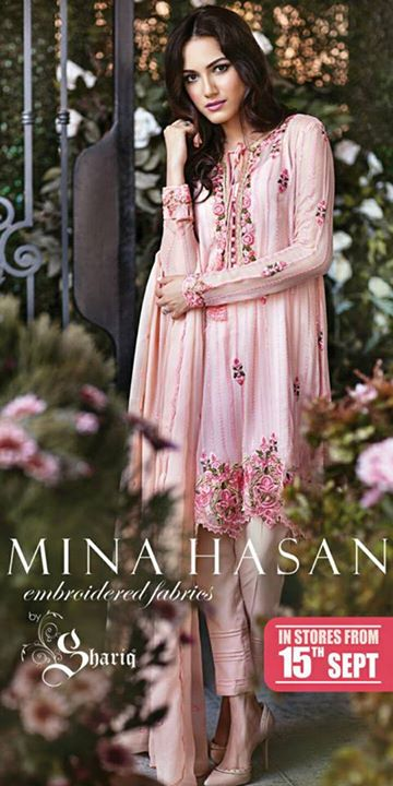 21976d29a0 Mina Hasan Embroidered Fabrics 2015-16 By Shariq Textile Eid-Ul-Adha Collection  2015-16