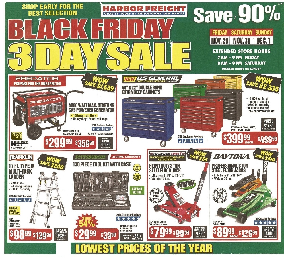 Harbor Freight Tools Black Friday 2019