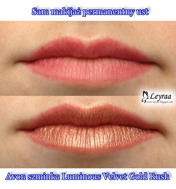 Avon szminka Luminous Velvet Gold Rush