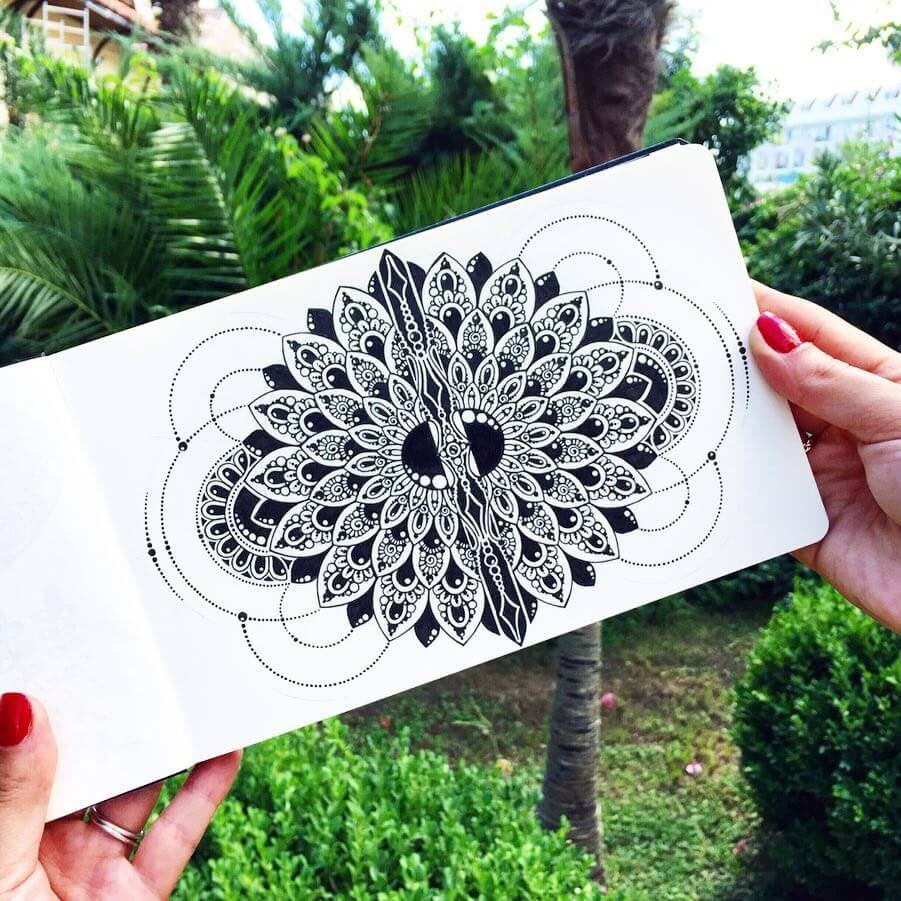 10-Ksenya-Gromova-Ink-Mandala-and-Flower-Drawings-www-designstack-co